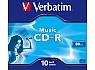 Verbatim CD-R AUDIO 10pk JC  80MIN VERBATIM MUSIC LIFE PLUS