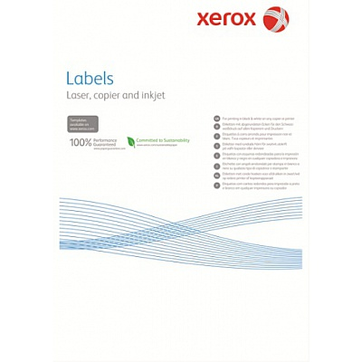 Наклейка Xerox Mono Laser 65UP (rounded) 38.1x21.2mm 100л.