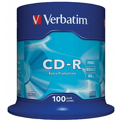 Verbatim CD-R, 100pk  Extra Ptotection 700MB 52X Spindle DL
